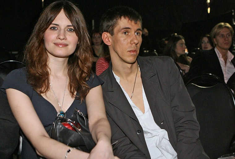 Андрей Панин с женой